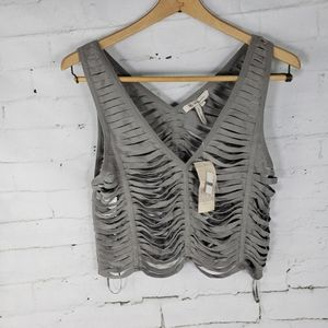 BCBGeneration Strappy Crop Taupe XS NWT